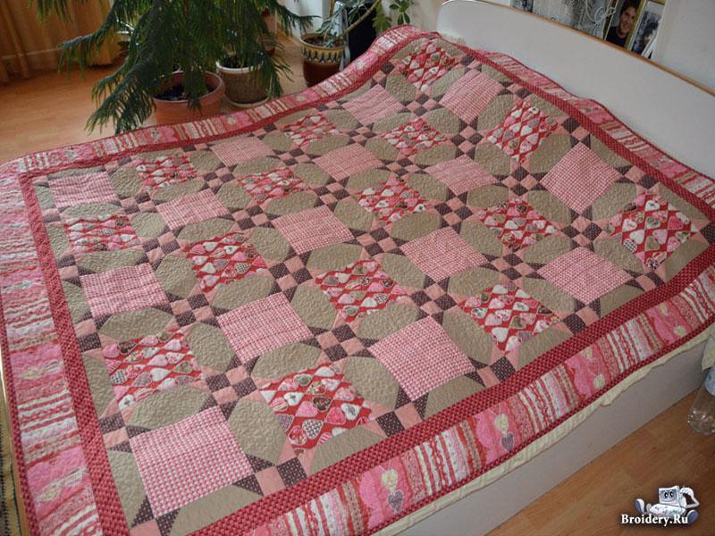 Шьем яркое лоскутное одеяло с