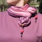 Шелковый шарф шьем сами