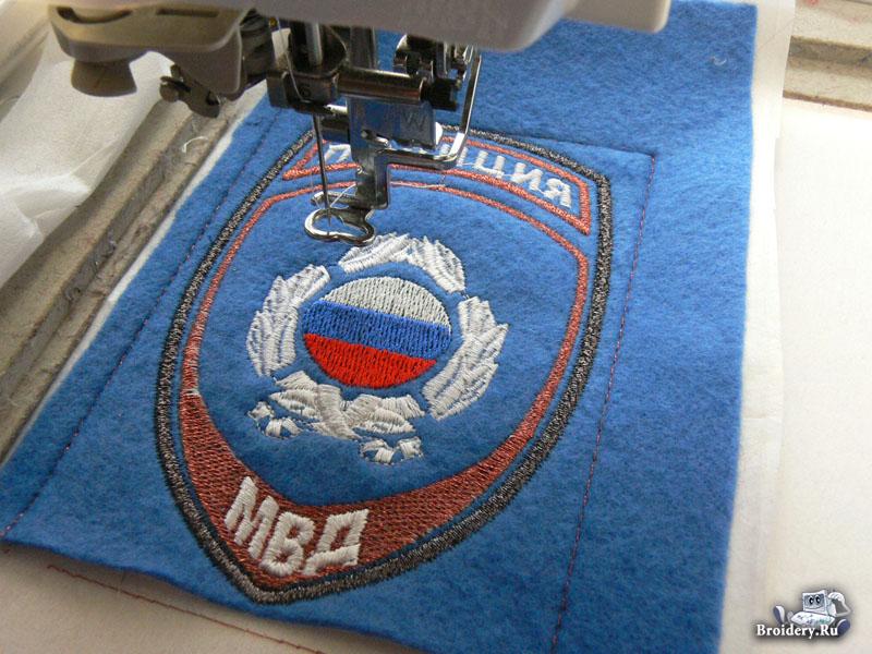 Машинка для вышивки шевронов и нашивок