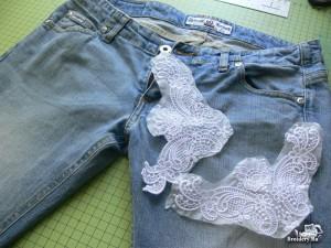 джинсовые шорты с кружевами_материалы