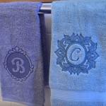 Машинная вышивка на махровом полотенце