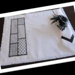 Делаем цветок с вышивкой в технике BlackWork