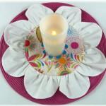 Декоративная салфетка в форме цветка