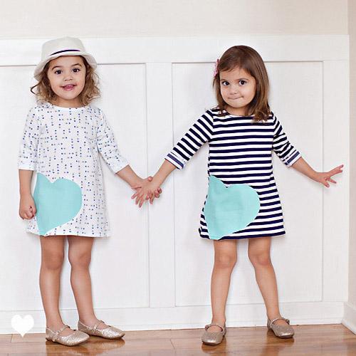 Трикотажное детское платье своими руками