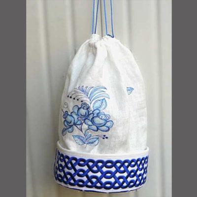 Делаем мешок-подвеску с вышивкой