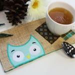 Салфетка с совой для сервировки чаепития