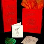 Машинная вышивка на бумаге: новогодние  открытки