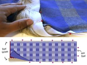 Шарф — хомут с машинной вышивкой