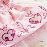 Вышивка лентами на детском платье