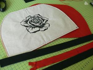 Сумка из фетра украшенная машинной вышивкой: Раскрой