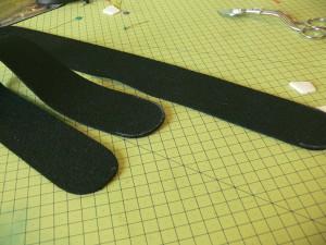 Сумка из фетра украшенная машинной вышивкой: Раскрой ручек сумки