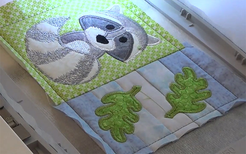 Пришивание аппликации на швейной машине