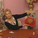 Ольга Никишичева: ридикюль, декорированный машинной вышивкой