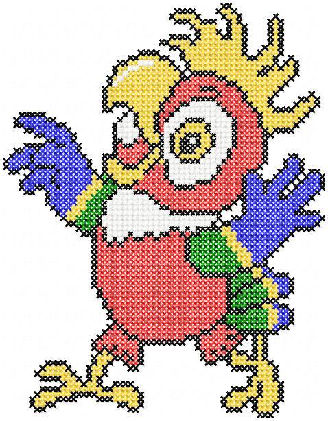 Вышивка схемы попугай кеша