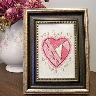 День Святого Валентина: Крейзи-квилт на вышивальной машине