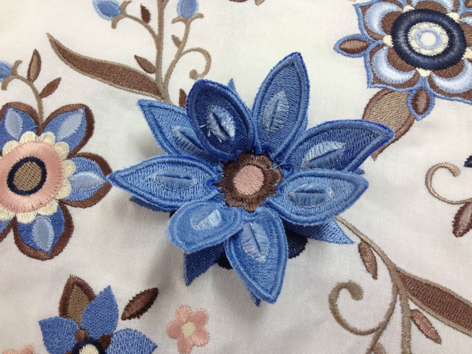 Stumpwork embroidery on embroidery machine