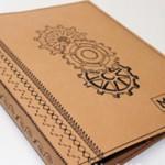 Машинная вышивка: Чехол для блокнота из крафт-бумаги