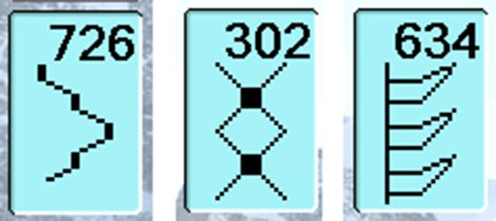 Bernina 830: Декоративные строчки