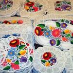 Венгерская вышивка: цветочная гладь калочаи