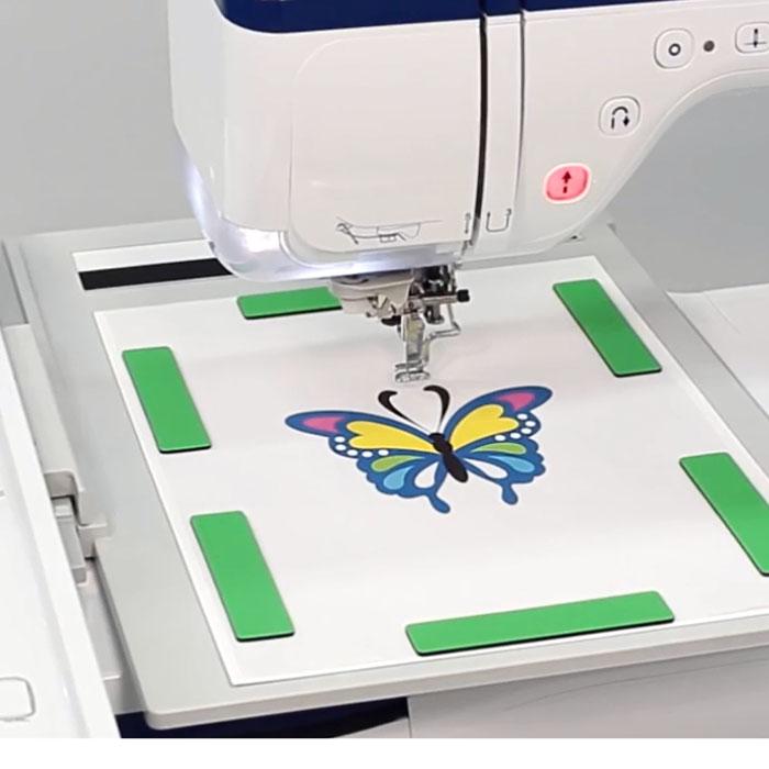 Brother Innov-is XV: Функция сканирования для создания дизайна машинной вышивки