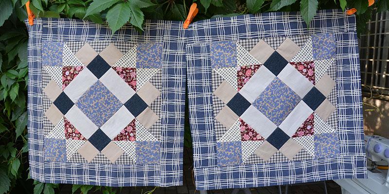 Лоскутное шитье: Подушка в прованском стиле