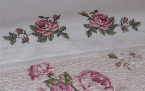 Вышивка крестом: Орнамент розы