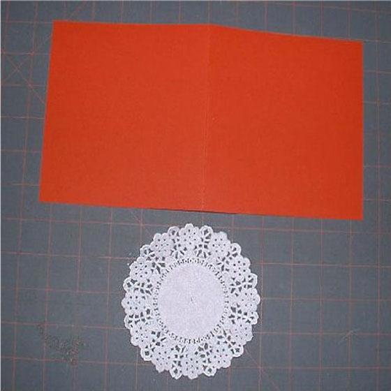 Вышивка крестом на бумаге: Открытка
