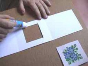 Вышивка крестом по бумаге: Сборка открытки