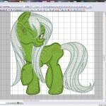 Дизайн вышивки Маленький Пони