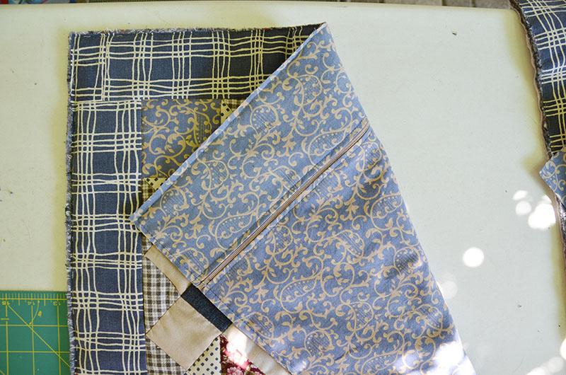 Лоскутное шитье: Подушка и накидка на стул