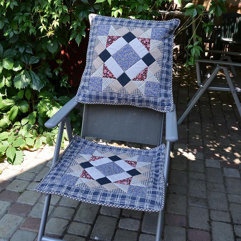 Лоскутное шитье: Подушка в прованском стиле 2