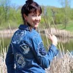 Переделка: Джинсовая куртка с машинной вышивкой