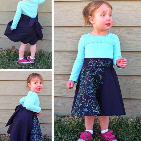 Как переделать детское платье в юбку