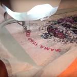 Машинная вышивка на трикотаже