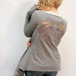 Переделка футболки в трикотажный кардиган