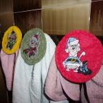 Машинная вышивка на фетре Держатель для полотенец