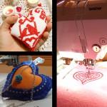 Шьем в пяльцах сердечки-валентинкии