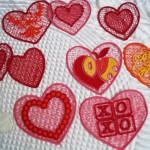 Сердечки кружевные для влюбленных