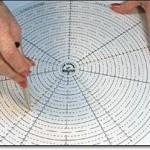 Расположение вышивки по кругу