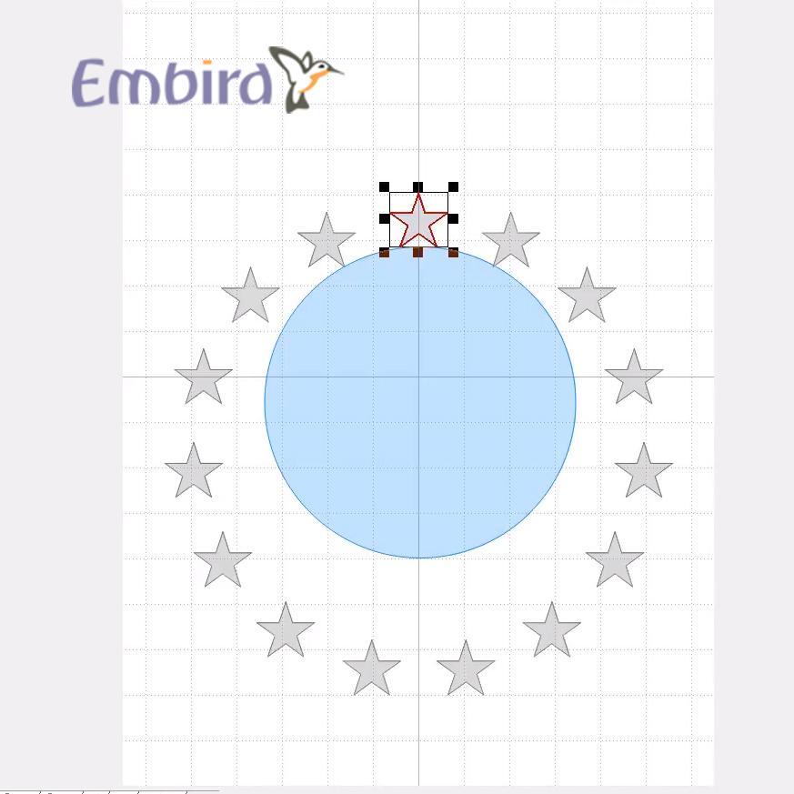 уроки Embird: Расположение объектов по кругу