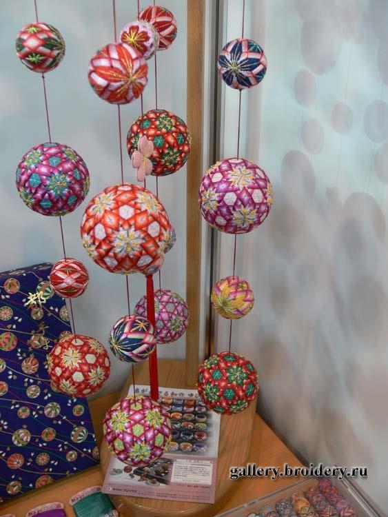 Темари, шары из ниток. Фестиваль Квилта в Токио.