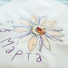 """Изображение Файл вышивки в технике """"Акварель"""". Цветок"""