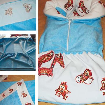одеяло-трансформер, машиная вышивка