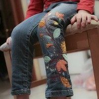 Вышиваем на джинсах