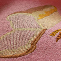 Вышиваем на махровой ткани неплотный дизайн