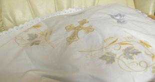 Вышиваем крестильное полотенце