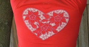 Аппликация + ришелье: Декорируем футболку машинной вышивкой