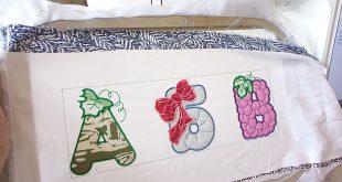 Машинная вышивка: Вышиваем азбуку в технике аппликация