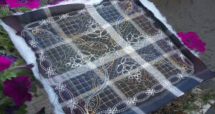 Машинная вышивка: Стежка лоскутных изделий
